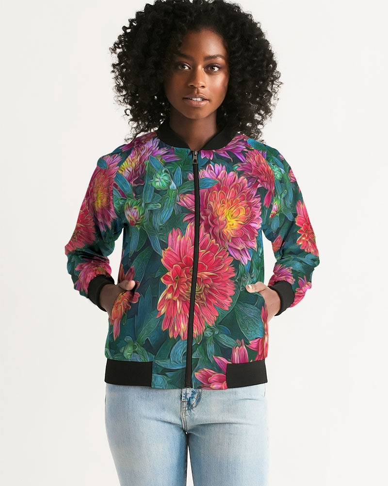 Warm Fall Mums Women's Bomber Jacket