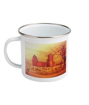Barn Painting Enamel Mug 10oz