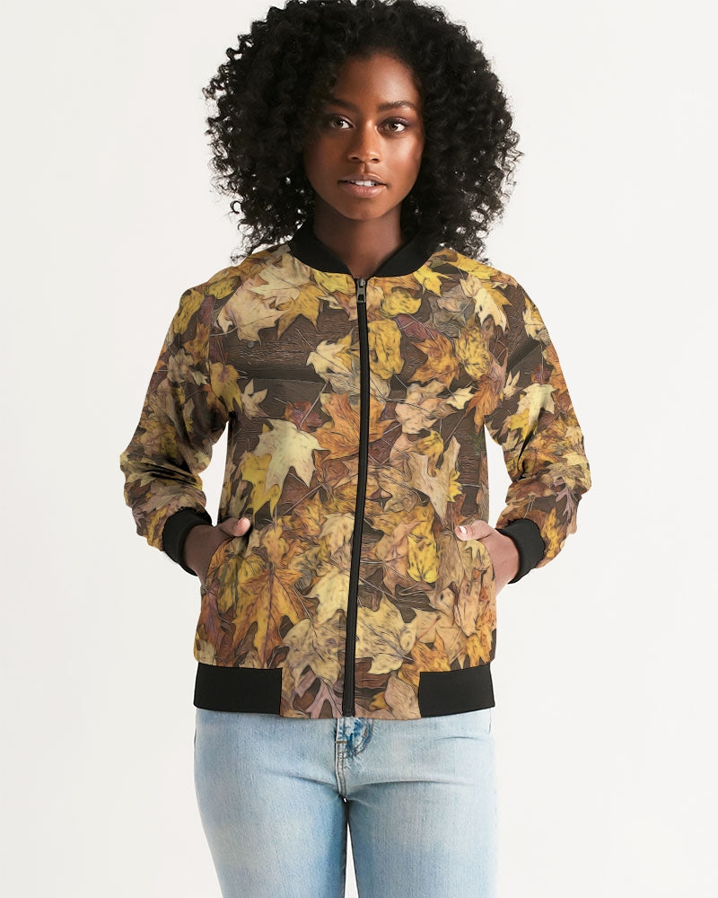 Late October Leaves Women's Bomber Jacket