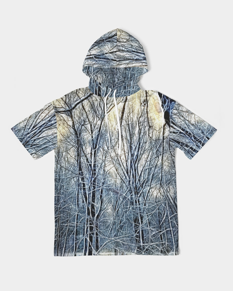 4 Oclock Winter Landscape Men's Premium Heavyweight Short Sleeve Hoodie