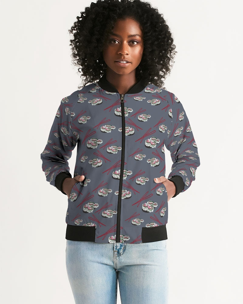 Sushi Pattern Women's Bomber Jacket