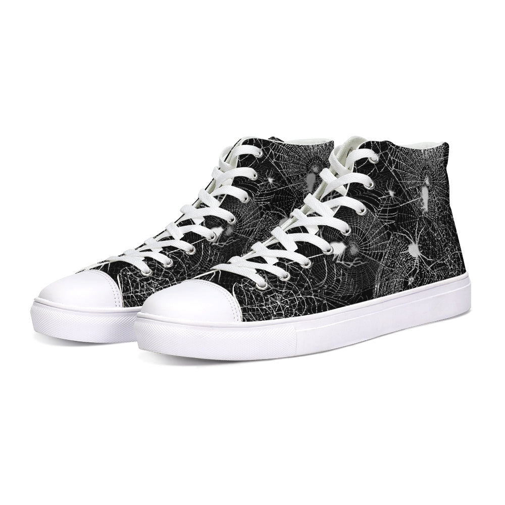 Spider Webs Hightop Canvas Shoe