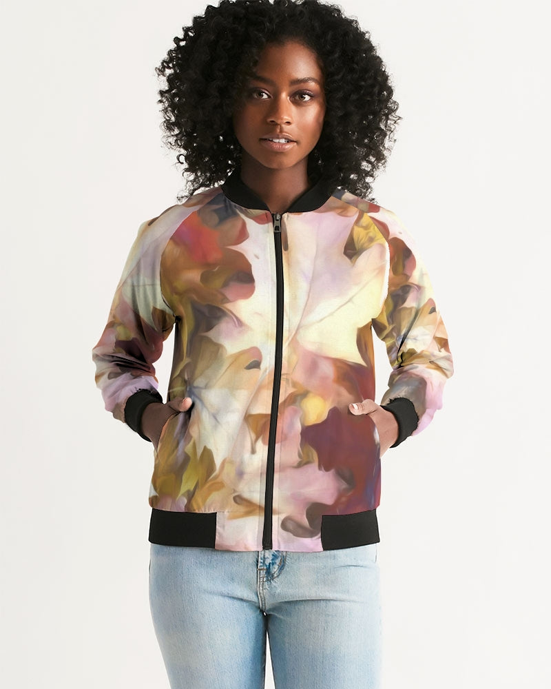 Fall Leaves Bright Women's Bomber Jacket