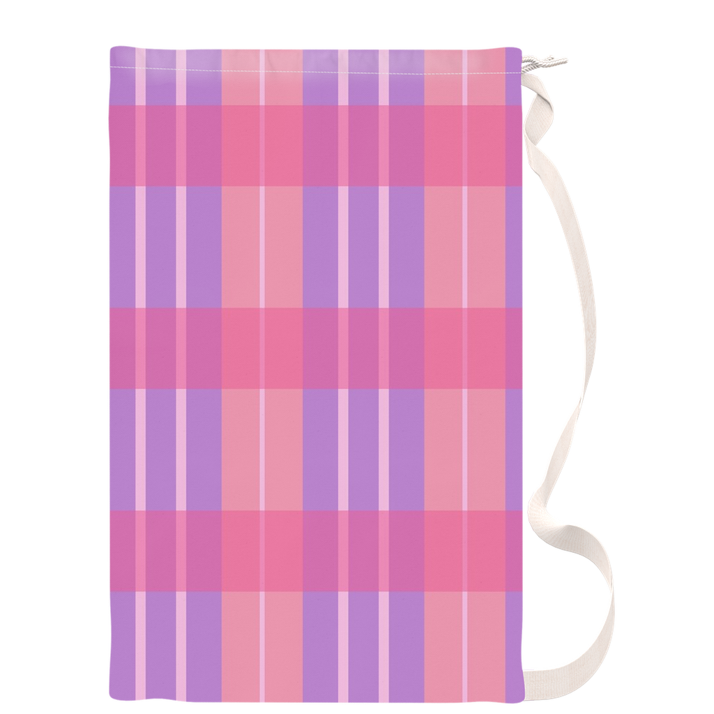 Pink Plaid Laundry Bags