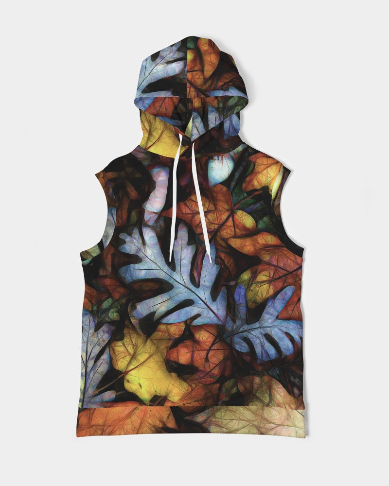 Mid October Leaves Men's Premium Heavyweight Sleeveless Hoodie