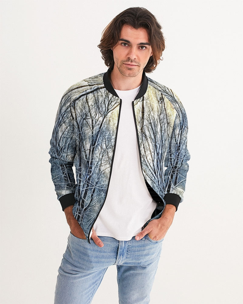 4 Oclock Winter Landscape Men's Bomber Jacket