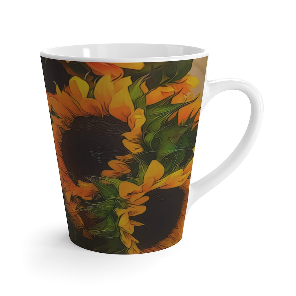 Sunflowers Latte mug