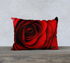 Reddest Rose Pillow Case