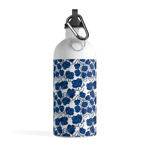 Blue Roses Stainless Steel Water Bottle