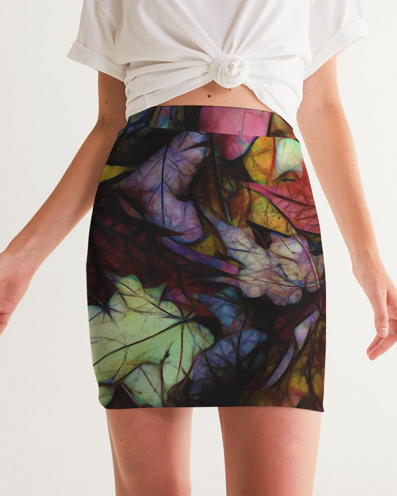 Fall Leaves Abstract Women's Mini Skirt
