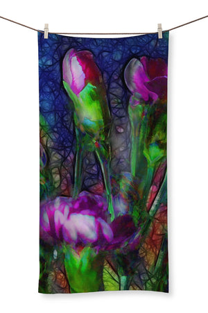Abstract Pink Carnations Towel