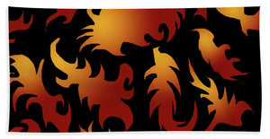 Abstract Flames Pattern - Bath Towel