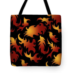 Abstract Flames Pattern - Tote Bag