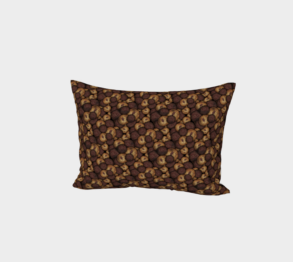 Chocolate Chip Cookies Pattern Bed Pillow Sham