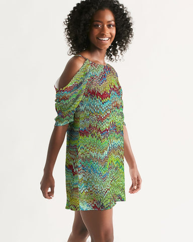 Women's Open Shoulder A-line Dress