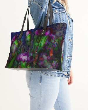 Abstract Pink Carnations Stylish Tote