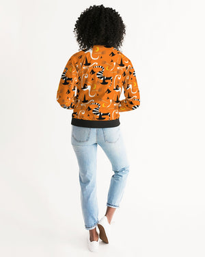 Witch Hats and Brooms Women's Bomber Jacket