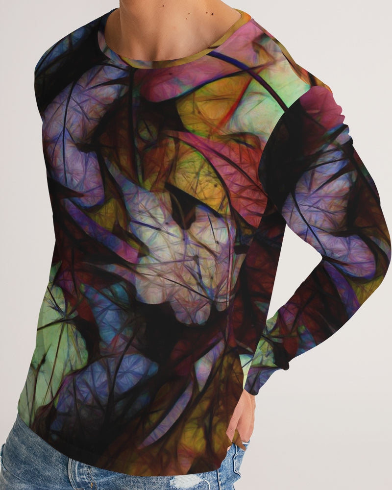 Fall Leaves Abstract Men's Long Sleeve Tee