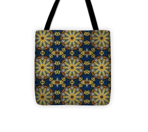 Blue and Yellow Kaleidoscope - Tote Bag