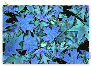 Blue Fall leaves - Carry-All Pouch