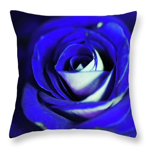 Blue Rose - Throw Pillow