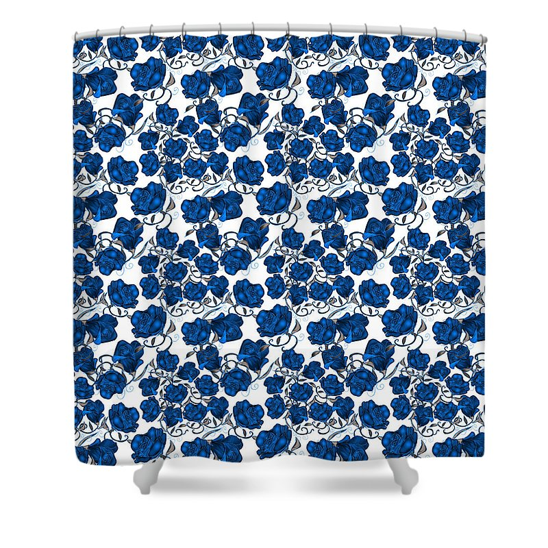 Blue Roses - Shower Curtain