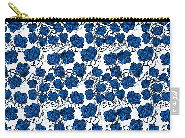 Blue Roses - Carry-All Pouch