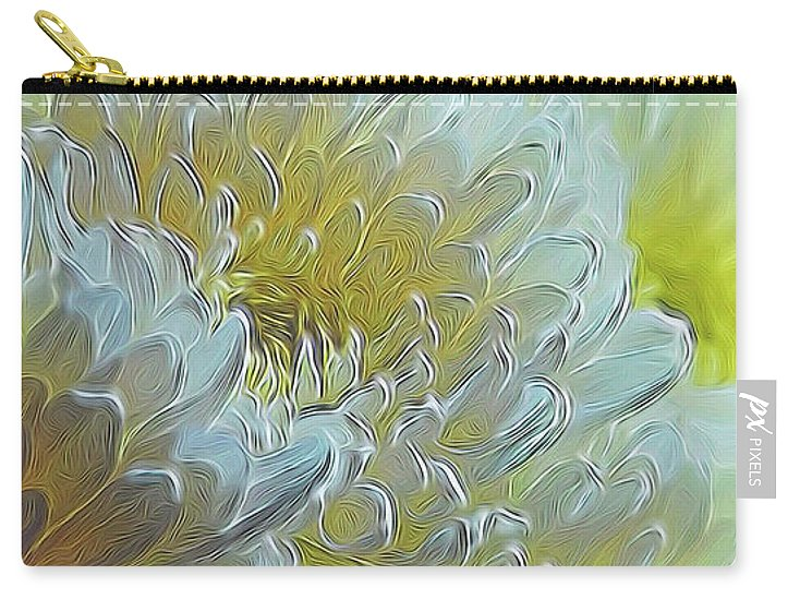Chrysanthemums in White Light - Carry-All Pouch