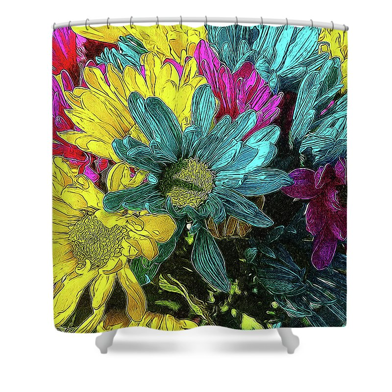 Colorful Daisies - Shower Curtain