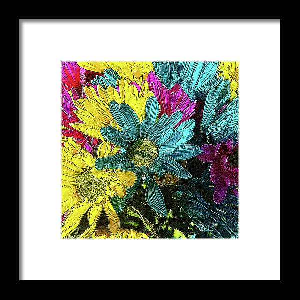Colorful Daisies - Framed Print