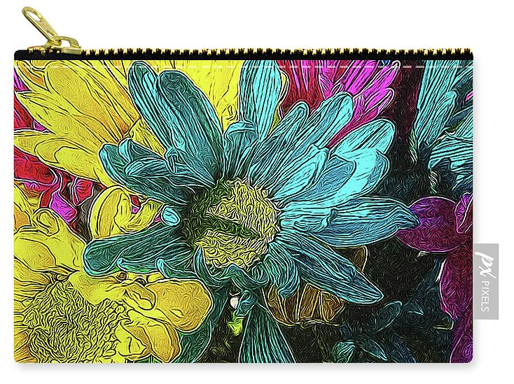Colorful Daisies - Carry-All Pouch