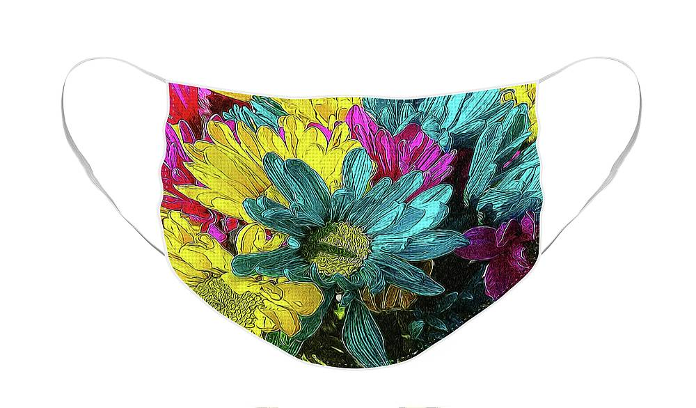 Colorful Daisies - Face Mask