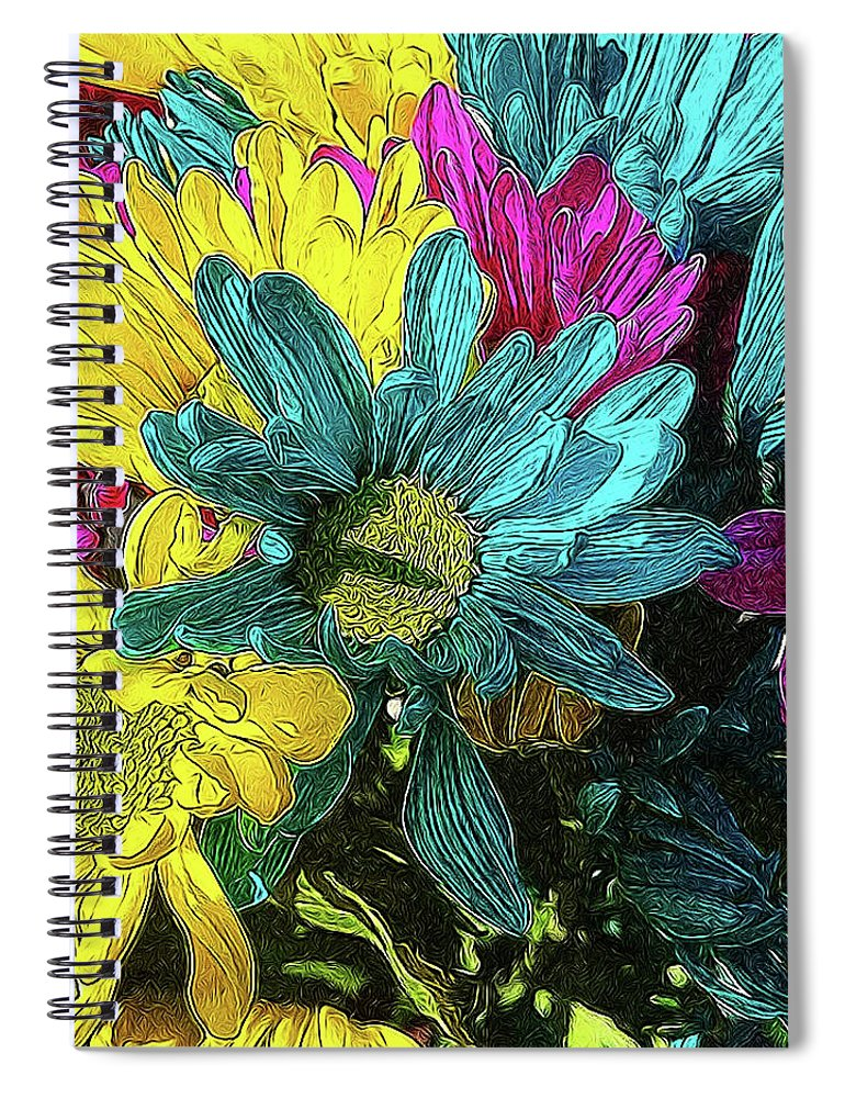Colorful Daisies - Spiral Notebook