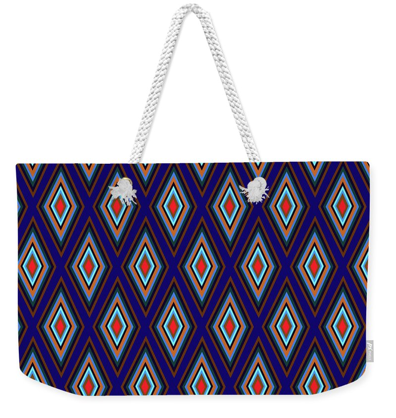 Colorful Diamonds Geometric Pattern Variation 3 - Weekender Tote Bag