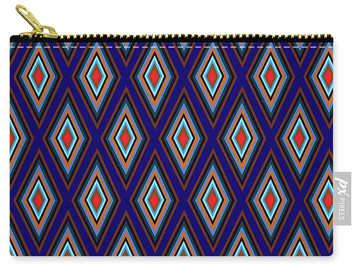 Colorful Diamonds Geometric Pattern Variation 3 - Carry-All Pouch