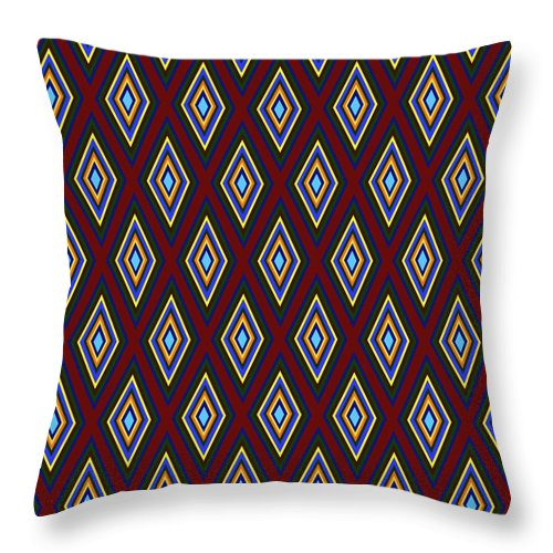 Colorful Diamonds Pattern Variation 1 - Throw Pillow