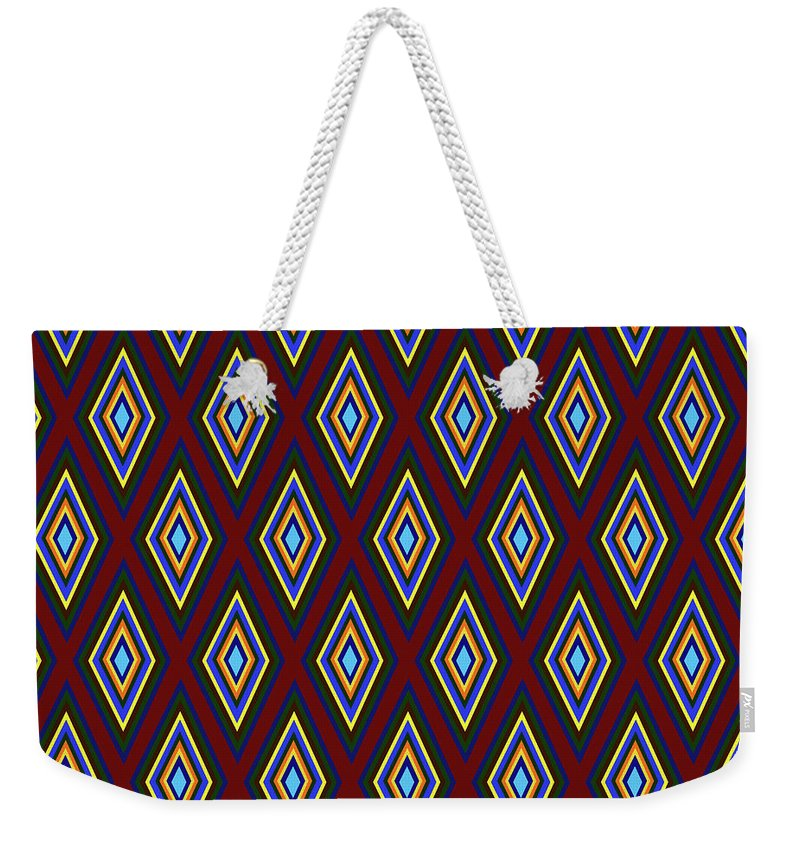 Colorful Diamonds Pattern Variation 1 - Weekender Tote Bag