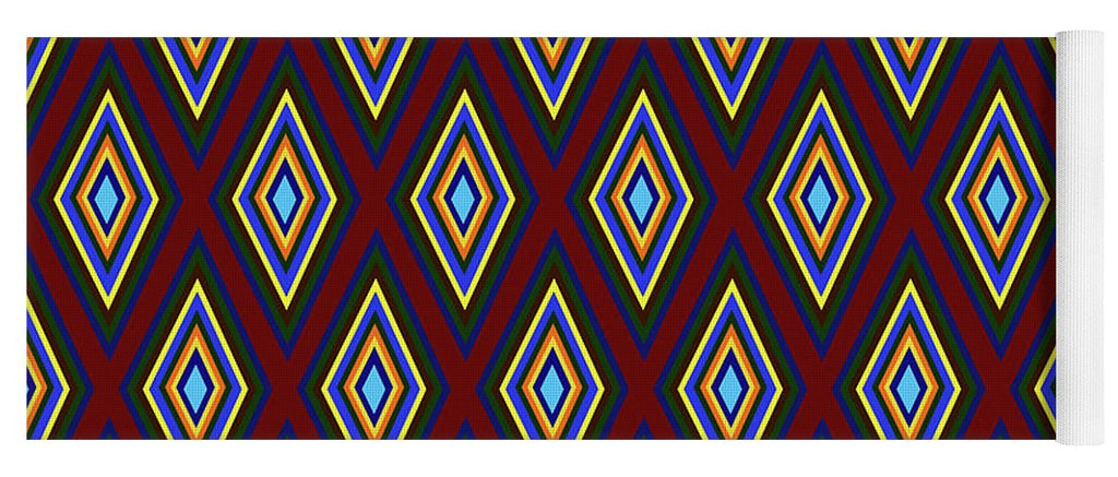 Colorful Diamonds Pattern Variation 1 - Yoga Mat