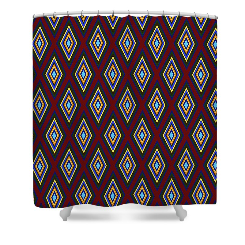 Colorful Diamonds Pattern Variation 1 - Shower Curtain