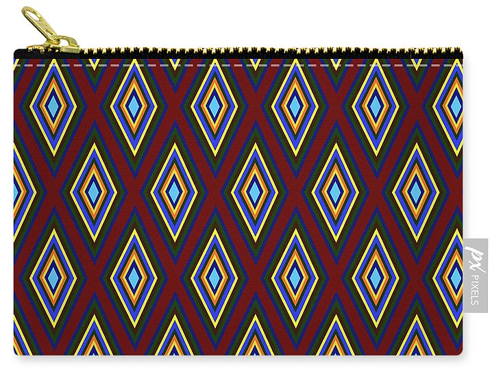 Colorful Diamonds Pattern Variation 1 - Carry-All Pouch