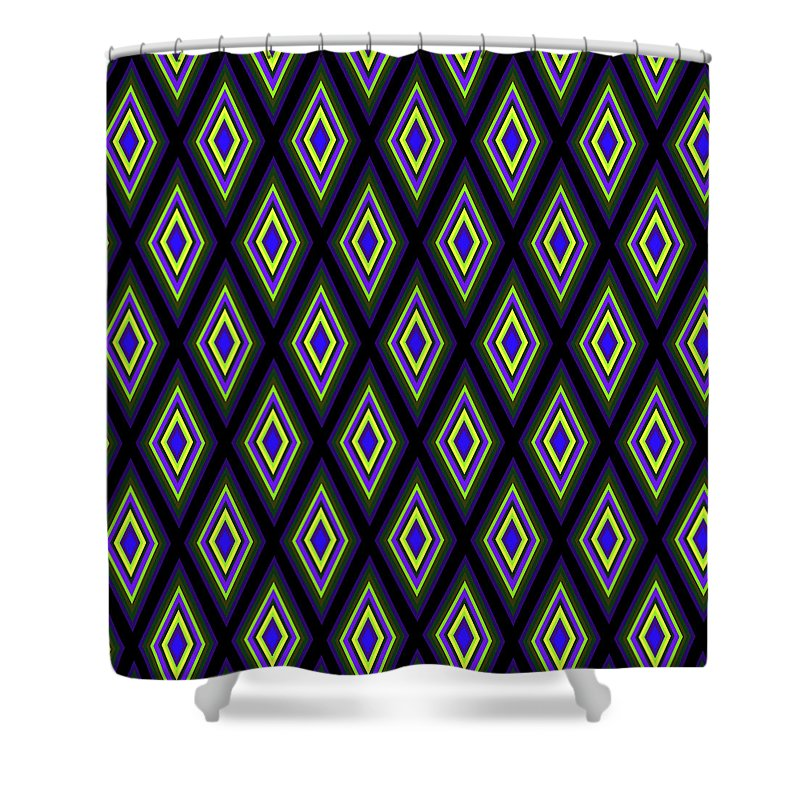 Colorful Diamonds Variation 2 - Shower Curtain