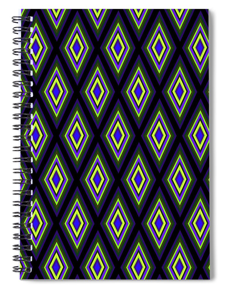 Colorful Diamonds Variation 2 - Spiral Notebook