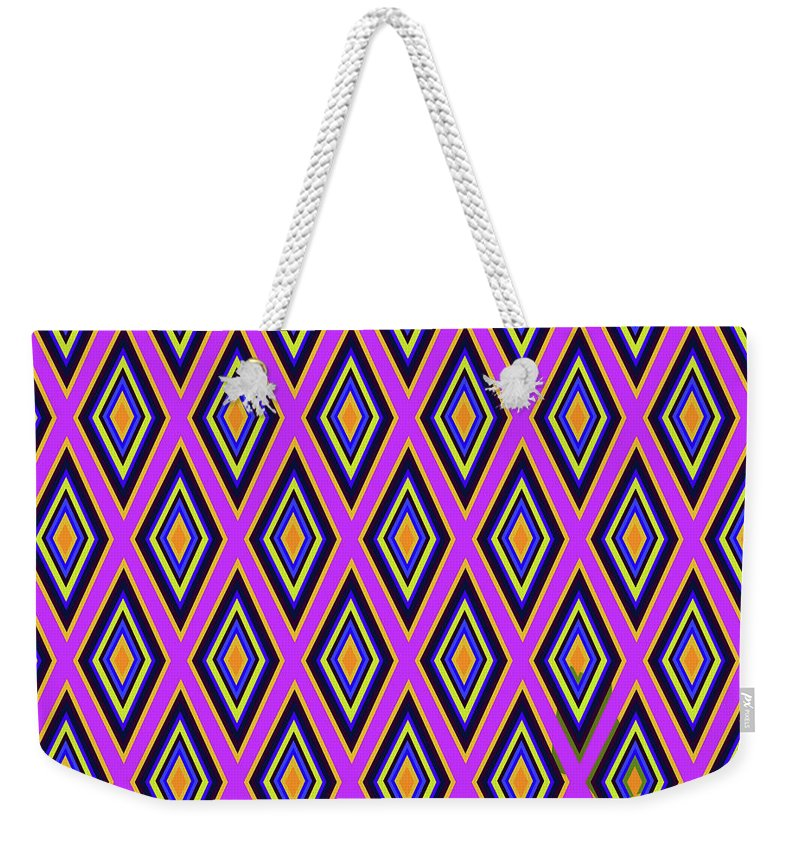 Colorful Diamonds Variation 4 - Weekender Tote Bag