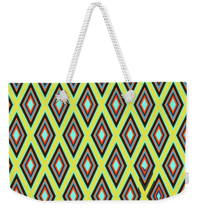 Colorful Diamonds Variation 5 - Weekender Tote Bag