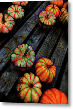 Colorful Fall Gourds - Metal Print