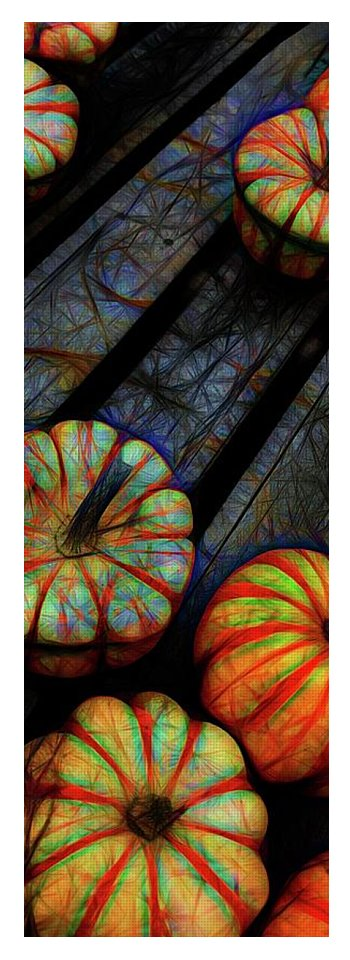 Colorful Fall Gourds - Yoga Mat