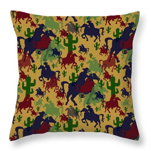 Cowboys Pattern - Throw Pillow