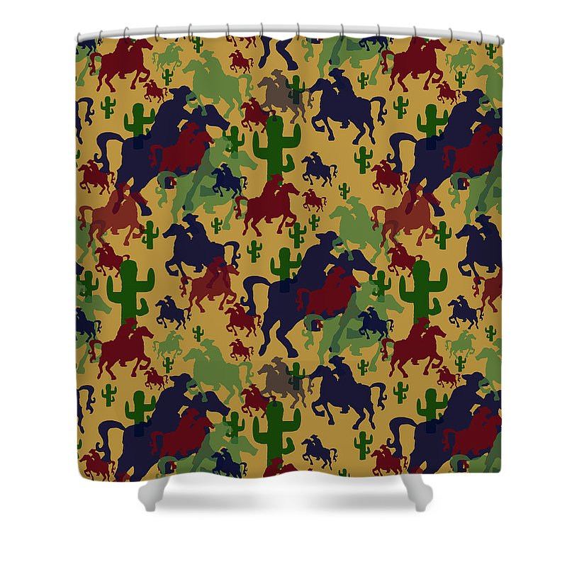 Cowboys Pattern - Shower Curtain
