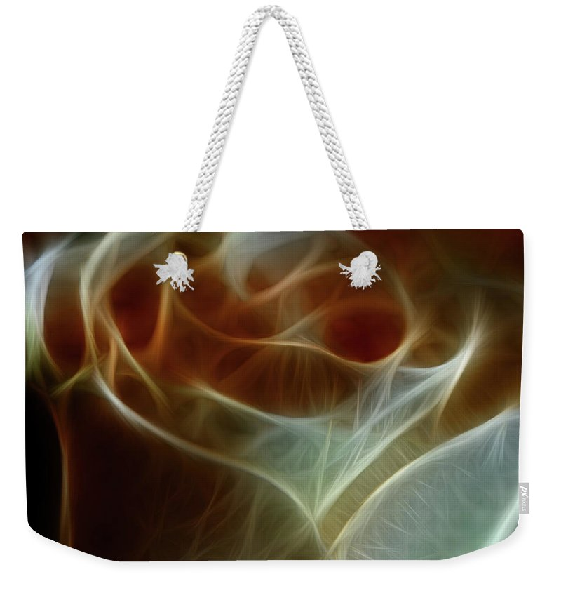 Cream and Amber Rose - Weekender Tote Bag