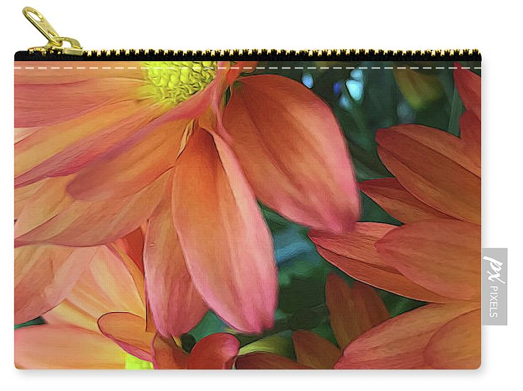 Cream and Pink Daisies Close Up - Carry-All Pouch